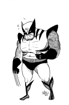 Alex Robinson wants you to buy his art. Click the image to go to his site. Or, just admire this oversized Wolverine.