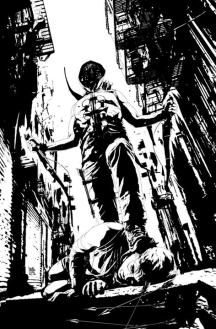 Andrea Sorrentino drew this awesome Green Arrow B&W variant for issue #18.