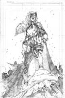 Brett Booth (aka @demonpuppy) brings us this imperious Batwoman sketch. Top work.