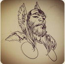 Muhmud Asrar drew this amazing Thor image entitled, Deity of Thunder. Couldn't have put it better myself.