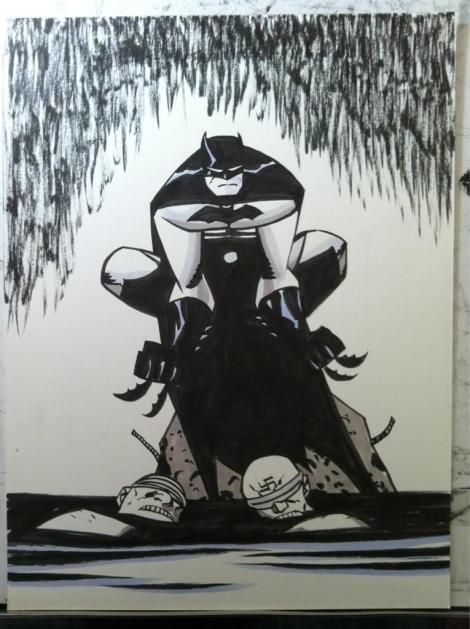 Batman Sketch - Michael Oeming